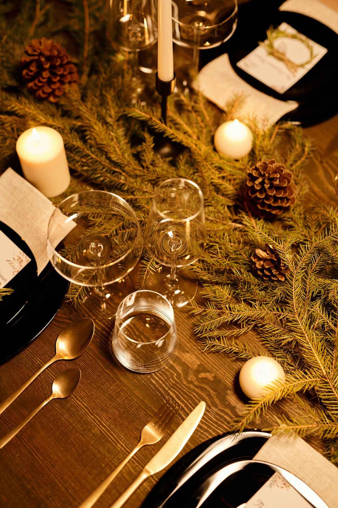 Mesas de comedor de madera navideñas
